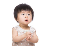 Asia baby girl clapping hand Stock Photography