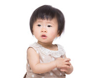 Asia baby girl clapping hand Royalty Free Stock Photo