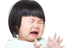 Asia baby girl crying Royalty Free Stock Images