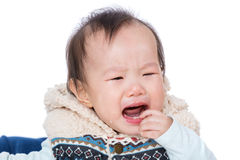 Asia baby girl crying Royalty Free Stock Photo