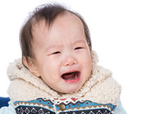 Asia baby girl crying Stock Photos