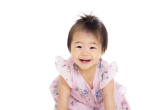 Asia baby girl excited Stock Photography