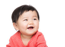 Asia baby girl feel excited Stock Photos