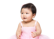 Asia baby girl feeling excited Royalty Free Stock Images