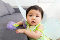 Asia baby girl with halloween party costume Stock Images