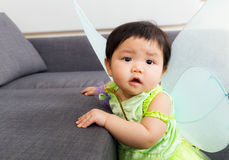 Asia baby girl with halloween party dressing Royalty Free Stock Image