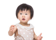 Asia baby girl hand up Royalty Free Stock Photos