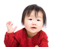 Asia baby girl hand up Stock Images