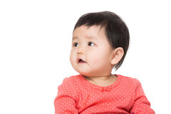 Asia baby girl looking aside Royalty Free Stock Photography