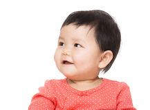 Asia baby girl looking aside Royalty Free Stock Image