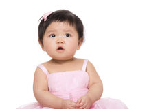 Asia baby girl with pink dress Stock Photo