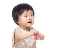 Asia baby girl portrait Stock Photo