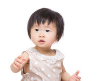Asia baby girl portrait Stock Photography