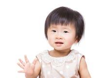 Asia baby girl say hi Royalty Free Stock Photo