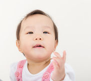 Asia baby looking up Royalty Free Stock Photography
