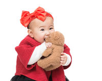 Asia baby play doll Stock Images