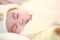 Asia baby who is sleeping Stock Photo
