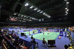 asia badmintonmästerskap 2011 Fotografering för Bildbyråer
