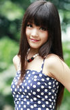 Asia beauty outdoor portrait Royalty Free Stock Photography