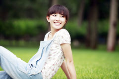 Asia beauty outdoor portrait. Charming Asia beauty outdoor portrait Royalty Free Stock Image