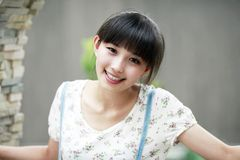 Asia beauty outdoor portrait Stock Images