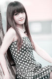 Asia beauty outdoor portrait Royalty Free Stock Images