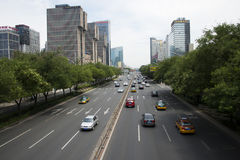 Asia Beijing Central Business District, Chinese, city traffic Royalty Free Stock Photography