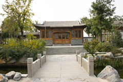 In Asia, Beijing, China, Expo Garden, antique buildings Stock Image