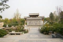 In Asia, Beijing, China, Expo Garden, antique buildings Stock Photo