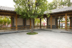 In Asia, Beijing, China, Expo Garden, antique buildings Royalty Free Stock Photo