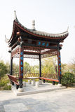 In Asia, Beijing, China, Expo Garden, antique buildings, pavilions, terraces and open halls, Stock Photography