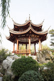 In Asia, Beijing, China, Expo Garden, antique buildings, pavilions, terraces and open halls, Royalty Free Stock Image