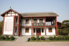 In Asia, Beijing, China, Expo Garden, antique buildings, pavilions, terraces and open halls, Stock Image