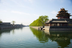In Asia, Beijing, China, historic building, the Imperial Palace, turret Stock Image