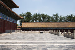 In Asia, Beijing, China, historic buildings, the Imperial Ancestral Temple Royalty Free Stock Photo