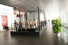In Asia, Beijing, China, modern architecture, the capital museum, the indoor exhibition hall Stock Image