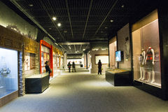 In Asia, Beijing, China, modern architecture, the capital museum, the indoor exhibition hall, Stock Image