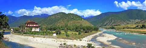 asia bhutan klosterpunakha royaltyfri fotografi