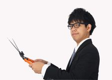 Asia Business Man cuting Stock Photography