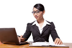 Asia business woman. A portrait of Asia business woman Royalty Free Stock Photography