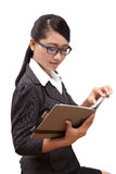 Asia business woman. A portrait of Asia business woman Royalty Free Stock Photo