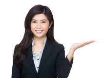 Asia business woman hand showing something Stock Photo