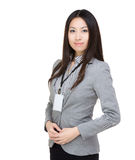 Asia business woman. Isolated on white Stock Photos