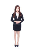 Asia business woman. Business woman stands in full length,asia beauty Royalty Free Stock Images