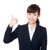 Asia business woman thumb up Stock Photography