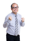 Asia businessman cheer up Stock Photo