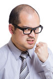Asia businessman feel angry Royalty Free Stock Photos
