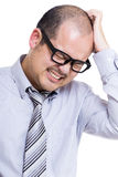 Asia businessman feel frustration Stock Image