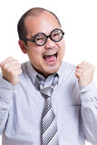 Asia businessman feeling excited Stock Images