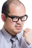 Asia businessman get angry Royalty Free Stock Photography